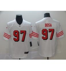 Men's San Francisco 49ers Nick Bosa 97 White Nike Scarlet Player Limited Jersey
