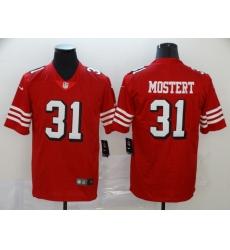 Men's San Francisco 49ers Raheem Mostert 31 Red Nike Scarlet Player Limited Jersey