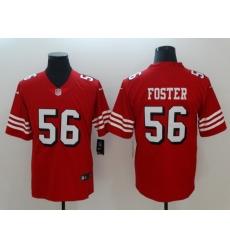 Men's San Francisco 49ers Reuben Foster 56 Red Nike Scarlet Player Limited Jersey
