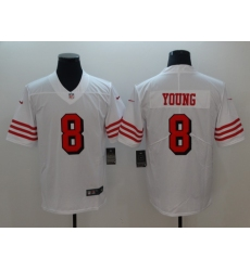 Men's San Francisco 49ers Steve Young 8 White Nike Scarlet Player Limited Jersey