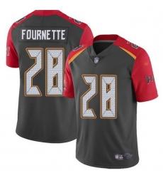 Men Tampa Bay Buccaneers 28 Leonard Fournette Gray Men Stitched NFL Limited Inverted Legend Jersey