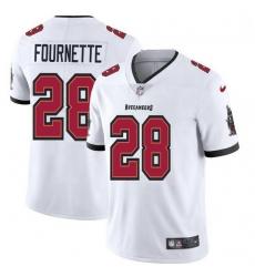 Men Tampa Bay Buccaneers 28 Leonard Fournette Men Nike White Vapor Limited Jersey