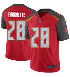Men Tampa Bay Buccaneers 28 Leonard Fournette Red Team Color Men Stitched NFL Vapor Untouchable Limited Jersey
