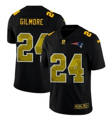New England Patriots 24 Stephon Gilmore Men Black Nike Golden Sequin Vapor Limited NFL Jersey