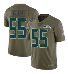 Nike Seahawks #55 Frank Clark Olive Mens Stitched NFL Limited 2017 Salute to Service Jersey