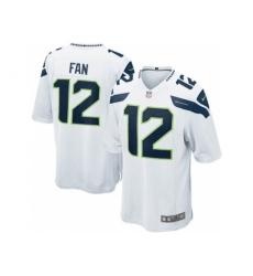 Nike Seattle Seahawks 12 Fan White Game NFL Jersey