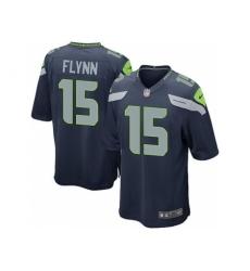 Nike Seattle Seahawks 15 Matt Flynn Blue Game NFL Jersey
