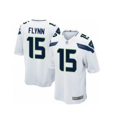 Nike Seattle Seahawks 15 Matt Flynn White Game NFL Jersey