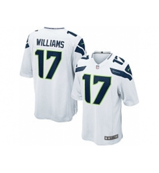 Nike Seattle Seahawks 17 Mike WilliamsWhite Game NFL Jersey