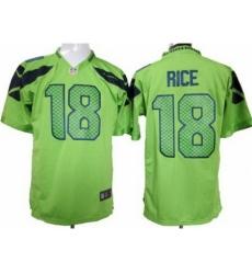 Nike Seattle Seahawks 18 Sidney Rice Green Game NFL Jersey