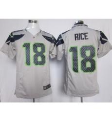 Nike Seattle Seahawks 18 Sidney Rice Grey Game NFL Jersey