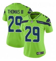 Womens Nike Seattle Seahawks 29 Earl Thomas III Elite Green Rush Vapor Untouchable NFL Jersey