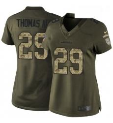 Womens Nike Seattle Seahawks 29 Earl Thomas III Elite Green Salute to Service NFL Jersey