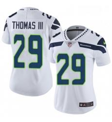 Womens Nike Seattle Seahawks 29 Earl Thomas III Elite White NFL Jersey