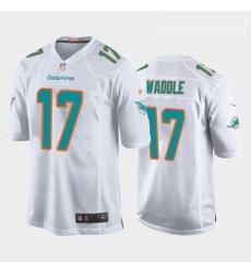 Men Miami Dolphins Jaylen Waddle Aqua White 2021 Draft Jersey