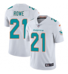 Nike Miami Dolphins 21 Eric Rowe White Men Stitched NFL Vapor Untouchable Limited Jersey