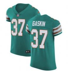 Nike Miami Dolphins 37 Myles Gaskin Aqua Green Alternate Men Stitched NFL New Elite Jersey