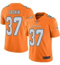 Nike Miami Dolphins 37 Myles Gaskin Orange Men Stitched NFL Limited Rush Jersey