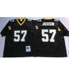 Men New Orleans Saints 57 Rickey Jackson Black M&N Throwback Jersey