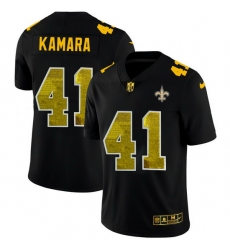New Orleans Saints 41 Alvin Kamara Men Black Nike Golden Sequin Vapor Limited NFL Jersey