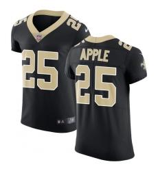 Nike Saints #25 Eli Apple Black Team Color Men Stitched NFL Vapor Untouchable Elite Jersey