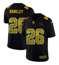 New York Giants 26 Saquon Barkley Men Black Nike Golden Sequin Vapor Limited NFL Jersey