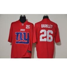 Nike Giants 26 Saquon Barkley Red Team Big Logo Number Vapor Untouchable Limited Jersey