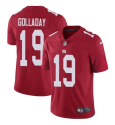 Nike New York Giants 19 Kenny Golladay Red Alternate Men Stitched NFL Vapor Untouchable Limited Jersey