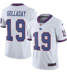 Nike New York Giants 19 Kenny Golladay White Men Stitched NFL Limited Rush Jersey