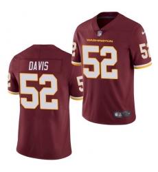 Men Washington Football Team 52 Jamin Davis Burgundy 2021 Vapor Untouchable Nike Limited Jersey