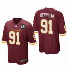 Washington Redskins 91 Ryan Kerrigan Men Nike Burgundy Bobby Mitchell Uniform Patch NFL Game Jersey