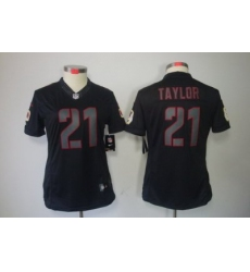 Women Nike NFL Washington Redskins #21 Fred Taylor Black Jerseys[Impact Limited]
