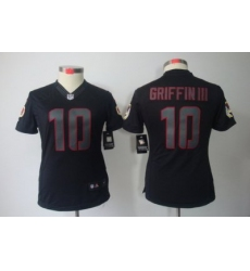 Women Nike Washington Redskins 10# Robert Griffin III Black Jerseys(Impact Limited)