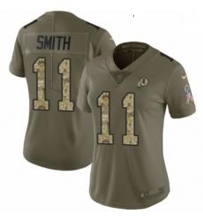 Womens Nike Washington Redskins 11 Alex Smith Limited OliveCamo 2017 Salute to Service NFL Jersey