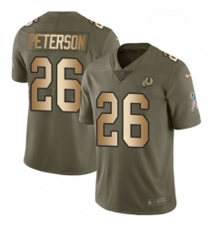 Youth Nike Washington Redskins 26 Adrian Peterson Limited Olive Gold 2017 Salute to Service NFL Jersey