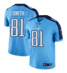 Men Tennessee Titans 81 Jonnu Smith Light Blue Vapor Limited Jersey