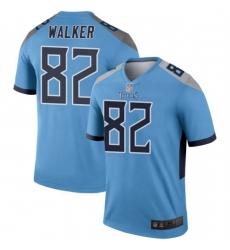 Men Tennessee Titans 82 Delanie Walker Legend Light Blue Limited Jersey