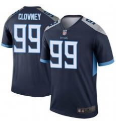 Men Tennessee Titans 99 Jadeveon Clowney Legend Navy Limited Jersey