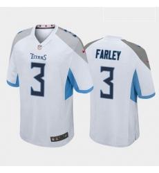 Men Tennessee Titans Caleb Farley White Blue 2021 Draft Jersey
