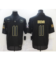 Men's Tennessee Titans #11 A.J. Brown 2020 Black Salute To Service Limited Stitched Jersey