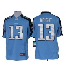 Nike Tennessee Titans 13 Kendall Wright Light Blue Limited NFL Jersey