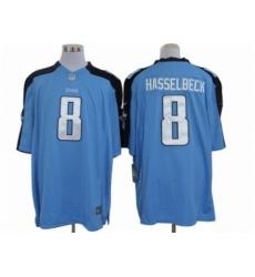 Nike Tennessee Titans 8 Matt Hasselbeck Blue Limited NFL Jersey