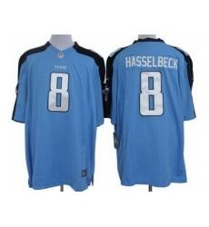 Nike Tennessee Titans 8 Matt Hasselbeck Light Blue Limited NFL Jersey