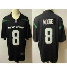 Men New York Jets 8 Elijah Moore Black 2021 Vapor Untouchable Stitched NFL Nike Limited Jersey