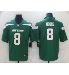 Men New York Jets 8 Elijah Moore Nike Gotham Green 2021 Vapor Untouchable  Jersey