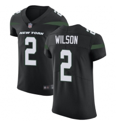 Nike New York Jets 2 Zach Wilson Black Alternate Men Stitched NFL New Elite Jersey