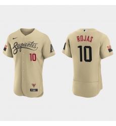 Arizona Diamondbacks 10 Josh Rojas Men Nike 2021 City Connect Authentic MLB Jersey Gold