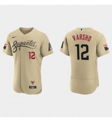 Arizona Diamondbacks 12 Daulton Varsho Men Nike 2021 City Connect Authentic MLB Jersey Gold