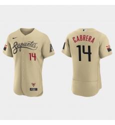 Arizona Diamondbacks 14 Asdrubal Cabrera Men Nike 2021 City Connect Authentic MLB Jersey Gold