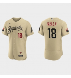 Arizona Diamondbacks 18 Carson Kelly Men Nike 2021 City Connect Authentic MLB Jersey Gold